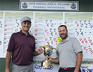 Eric (L) and Clark Rustand, the 2017 John R. Williams Four-Ball champions